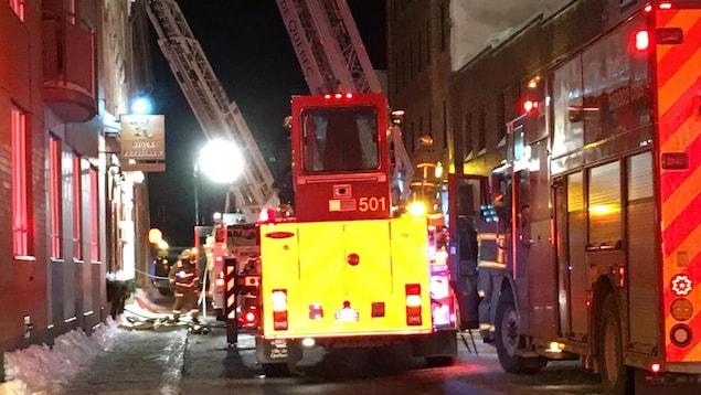 L'incendie a rapidement été maîtrisé dans le secteur du Vieux Port.