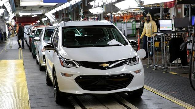 Un véhicule Chevrolet Bolt EV 2018 chez General Motors Orion Assembly à Lake Orion, Michigan.