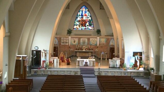 L'intérieur de l'église Saint-Jérôme de Matane