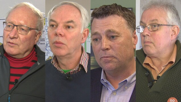 Montage photo des 4 chefs de parti à l'Île-du-Prince-Édouard.