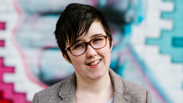 Un portrait de la journaliste assassinée Lyra McKee.