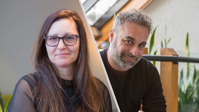Montage des portraits d'Isabel Brochu et de Marc Saint-Hilaire.