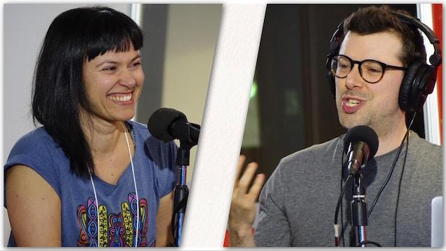 Isabelle Gaul et Simon Boulerice ont accepté d'écrire 300 mots pour l'émission Sur le vif.