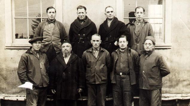 Eight Italians detained at the Petawawa base.