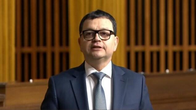 Jacques Gourde à la Chambre des Communes.