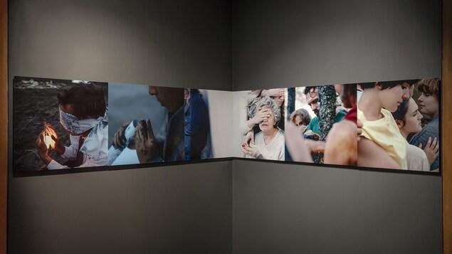 Photo de l'oeuvre accrochée au mur