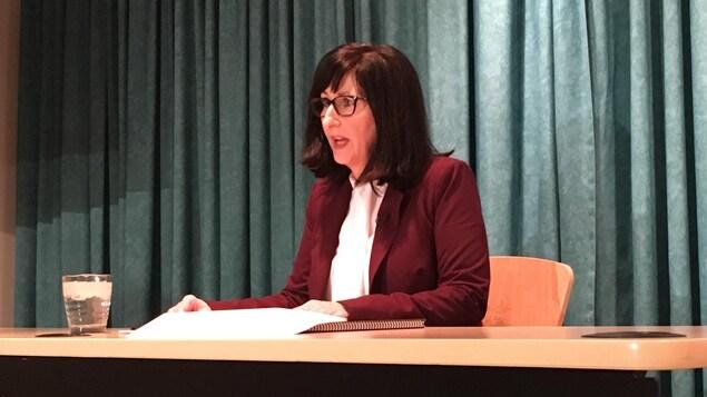 La vérificatrice générale de l'Île-du-Prince-Édouard, Jane MacAdam.