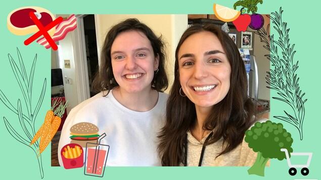 "Janie Moyen et Rose Nantel prennent un ""selfie"""