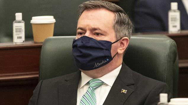 Le premier ministre albertain, Jason Kenney, à l'Assemblée législative.
