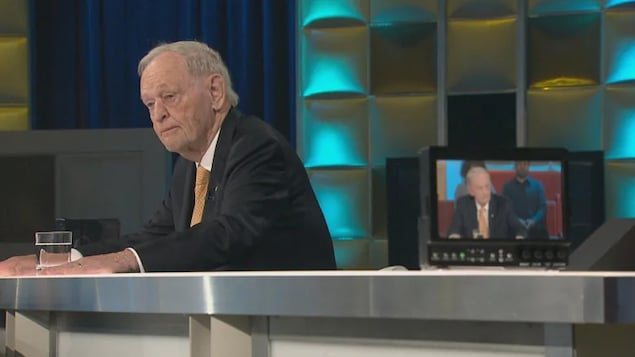 Former prime minister Jean Chrétien, now 87, appeared on the Radio-Canada talk show Tout le Monde en Parle on Sunday night.