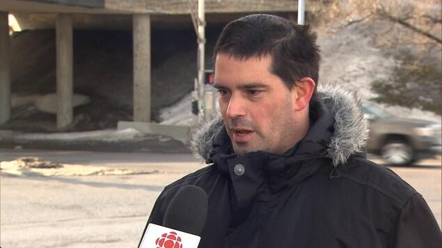 Jean-François Dionne, président de l'Association des travailleurs en signalisation routière du Québec.