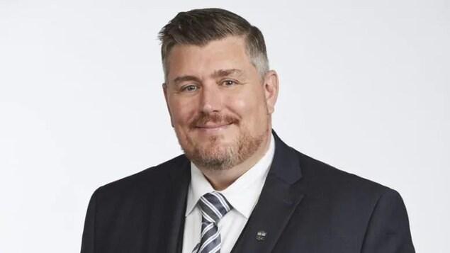Le candidat libéral du Manitoba, Jeffrey Anderson.