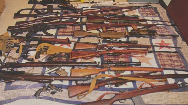 Plus de 100 armes et des milliers de munitions