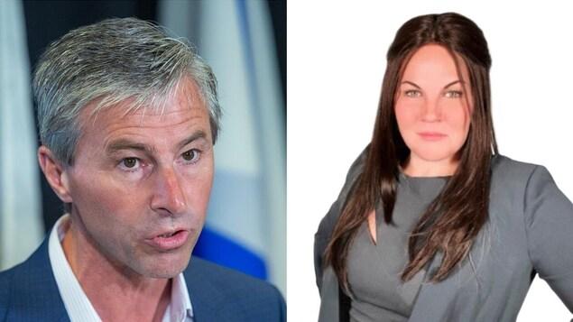Le chef du Parti progressiste-conservateur de la Nouvelle-Écosse, Tim Houston, et la candidate progressiste-conservatrice Jennifer Ehrenfeld-Poole.