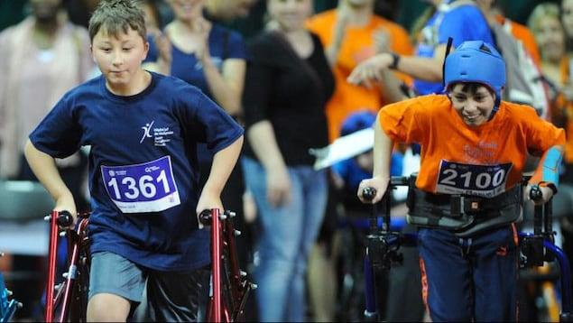 De jeunes athlètes au Défi sportif Altergo