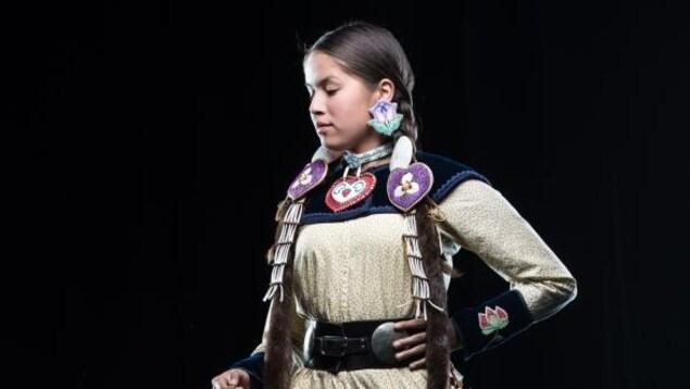 Hannah Morningstar, athlète et ambassadrice de l'Équipe 88 pour les Jeux autochtones de l'Amérique du Nord 2017