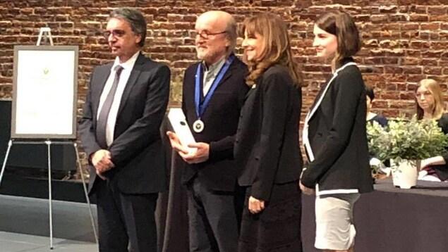 Photo de la remise de l'Ordre des francophones d'Amérique