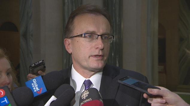Jim Reiter, ministre de la Santé de la Saskatchewan, en entrevue.