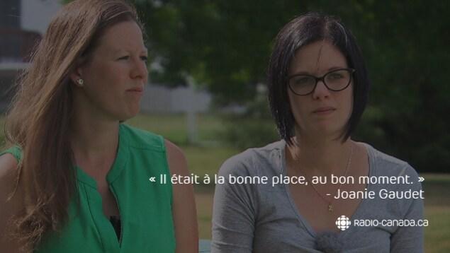 Noémie et Joanie Gaudet encouragent les entreprises à se munir de défibrillateurs.