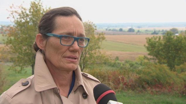 Joanne Labadie en entrevue.