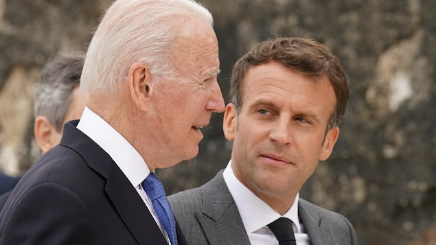 Joe Biden et Emmanuel Macron.