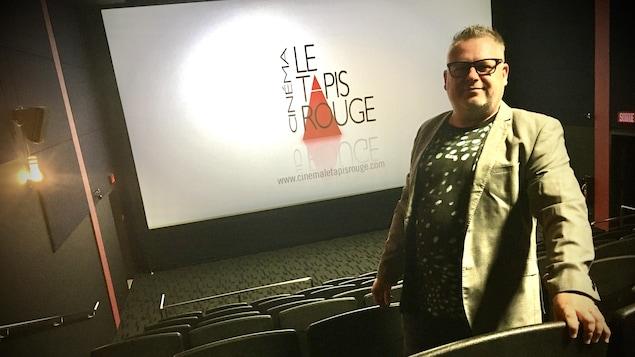 Joël Côté, copropriétaire du cinéma Le Tapis rouge à Trois-Rivières.