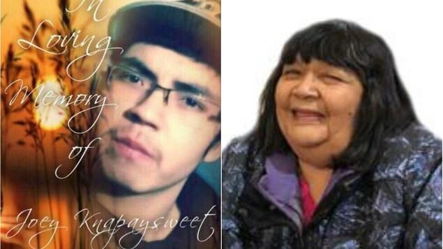 Des portraits de Joey Knapaysweet, 21 ans et Agnes Sutherland, 62 ans.