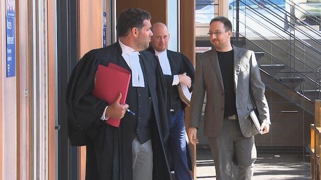 Jonathan Bettez au palais de justice de Trois-Rivières, le 9 juillet dernier.