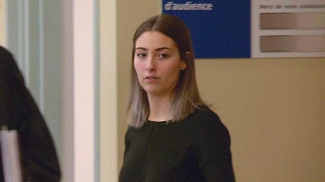 Josianne Lebrun au palais de justice.