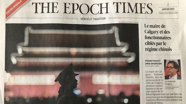 La page couverture de janvier 2021 du journal The Epoch Times.