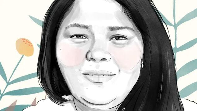 视觉艺术家 Marie-Ève Turgeon 在观看了 Joyce Echaquan 在病房拍摄的视频后立即绘制了 Joyce Echaquan 的肖像;此后,这张照片在魁北克各地的守夜活动和游行中被反复使用。