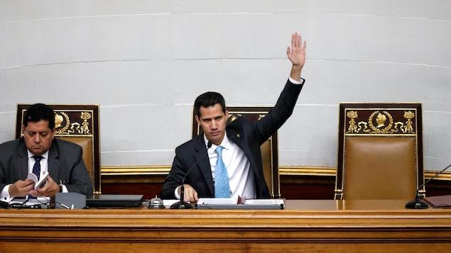 Juan Guaido, président de l'Assemblée nationale du Venezuela.