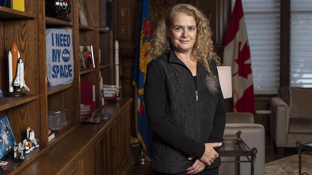 Julie Payette dans son bureau de Rideau Hall, à Ottawa