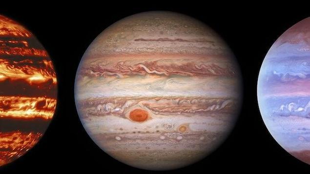 Trois nouvelles images de Jupiter.