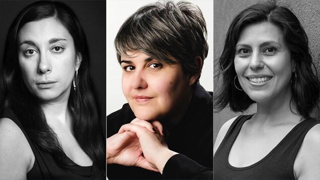Montage des trois portraits des trois femmes.