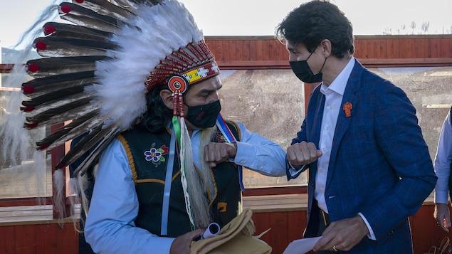 Justin Trudeau et Michael LeBourdais.