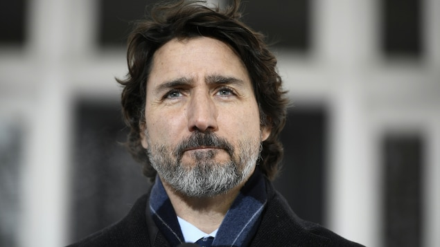 Gros plan du premier ministre Trudeau.