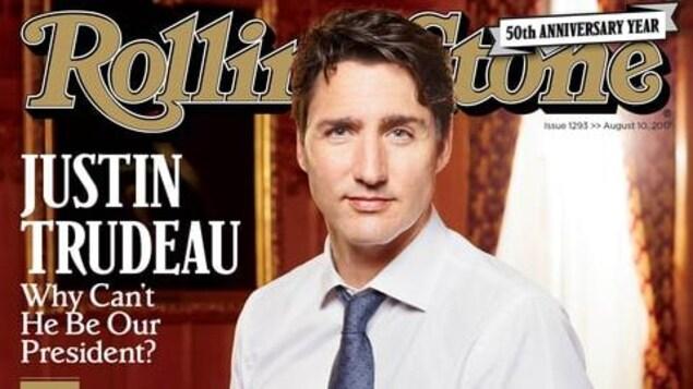 Justin Trudeau en une du magazine Rolling Stone