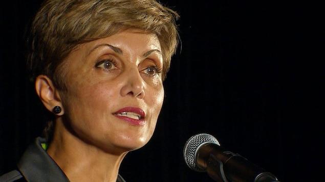 Jyoti Gondek au podium