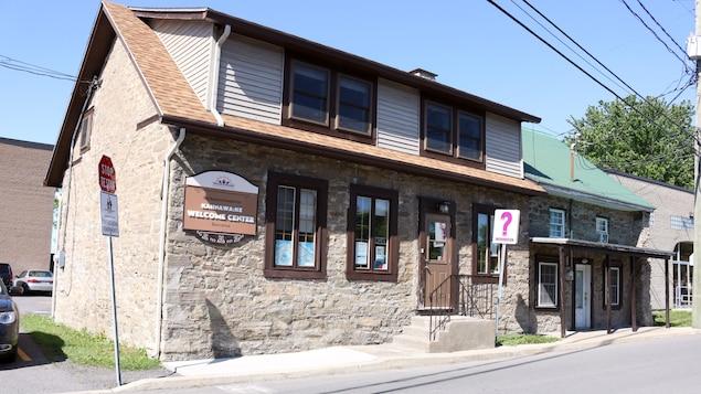 Le bureau d'information touristique de la communauté mohawk de Kahnawake, au sud de Montréal.
