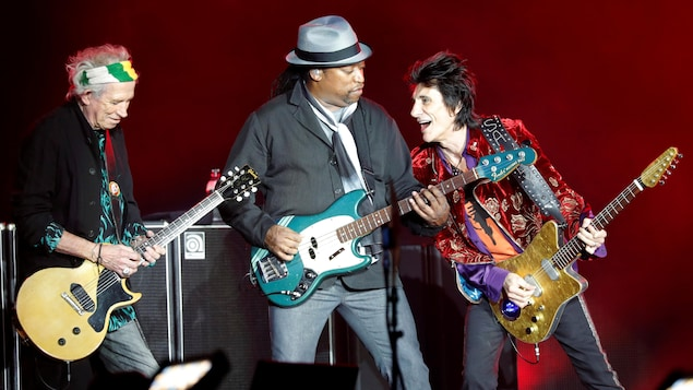 Keith Richards, Darryl Jones et Ronnie Wood