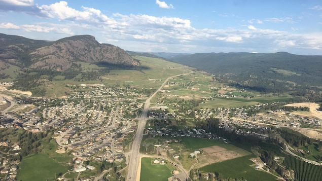 Vue aérienne de Kelowna