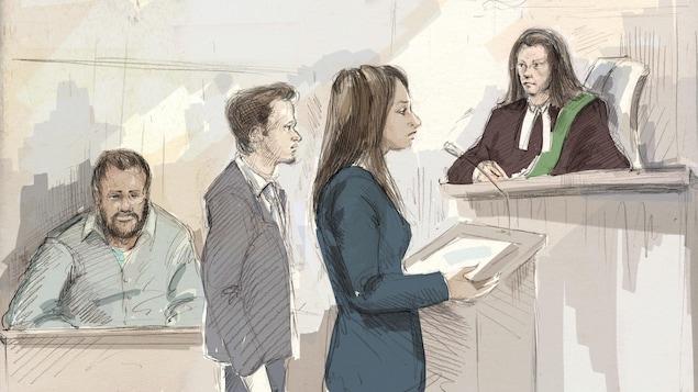 Kevin Omar Mohamed (à gauche) lors de son procès
