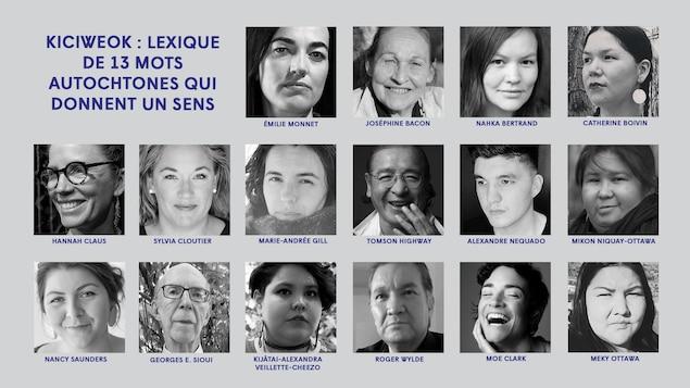 Les artistes qui seront du spectacle « Kiciweok : lexique de 13 mots autochtones qui donnent un sens »