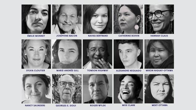 Les artistes qui seront du spectacle « Kiciweok : lexique de 13 mots autochtones qui donnent un sens ».