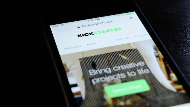 La version mobile du site web de Kickstarter.
