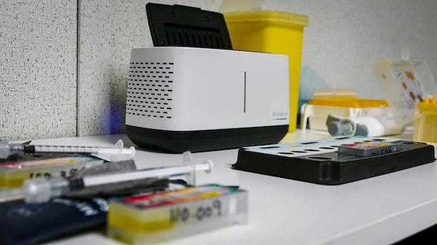 Un appareil de test de la compagnie Precision Biomonitoring.