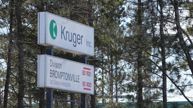 L'usine Kruger de Sherbrooke.