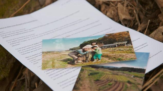 Lettre de Tatsuya Ikeda et photo de famille