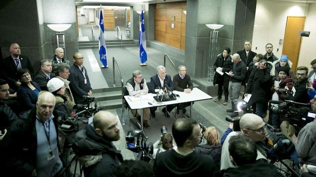 Point de presse de Régis Labeaume, Philippe Couillard et Martin Coiteux